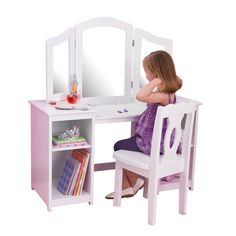FREE SHIPPING! Shop Wayfair for KidKraft Deluxe 2 Piece Vanity Set with Mirror - Great Deals on all Furniture products with the best selection to choose from!