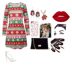 """Merry x-mas"" by dreabelly ❤ liked on Polyvore featuring Steve Madden, Rodo and Casetify"