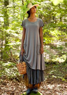 Gudrun Sjödén bamboo/cotton.  I want to dress like this every day - when I retire!