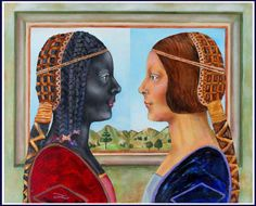 """The Princess in Black and Gold - When my friend Peter Silverman found the lost Da Vinci 'Principessa,"""" I had to be the first to rip it off. But then the principessa self-divided and she took on a life of her own."""