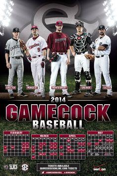 South Carolina Baseball Poster (2014)