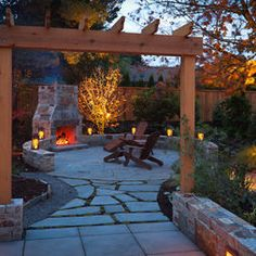 Outdoor Fireplace Design, Pictures, Remodel, Decor and Ideas - page 2