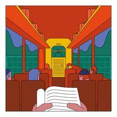 "Chilean illustrator Camilo Huinca's stylised portraits of ""real moments"" Illustrations, Flat Illustration, Graphic Design Illustration, Digital Illustration, Vaporwave, Photographie Street Art, Summer Drawings, Web Design, Flat Design"