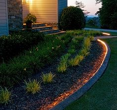 lighted concrete curbing