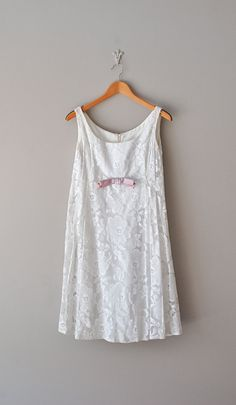 1960s Babydoll lace dress | http://www.etsy.com/listing/96096849/white-lace-dress-1960s-lace-dress-60s    #vintage #wedding