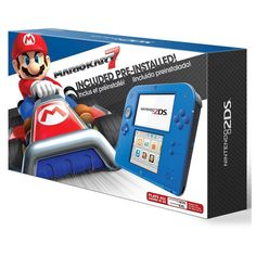 Nintendo 2DS Bundle with Mario Kart 7 - Electric Blue