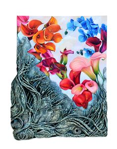"Aga Osak ""Secret Garden"" 50 x 70cm, mixed media, relief"