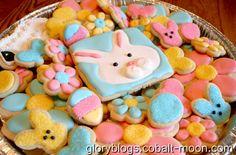 Big batch of Easter Cookies