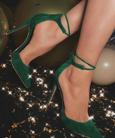 3bf8a5a23531 Kelly Green Pointed Toe Strappy Tie Up Heels for Women Hih heels prom shoes  - prom shoes royal blue prom shoes Click visit link above for more details