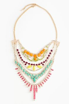 Sugar Crystal Necklace -- what if we used up all those GW necklaces this way?