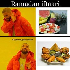 With a little imagination, Ramadan Kareem can sorta rhyme with 'dank meme'. Funny Memes Images, Funny Picture Jokes, Funny Relatable Quotes, Some Funny Jokes, Crazy Funny Memes, Hilarious, Funny Shit, Funny Stuff, Muslim Meme
