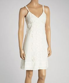This Aryeh Bleach Lace Sleeveless Dress by Aryeh is perfect! #zulilyfinds