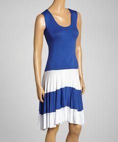 Another great find on #zulily! Blue & White Pamela Dress #zulilyfinds
