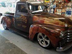 old rat rod trucks 54 Chevy Truck, Lifted Ford Trucks, Chevy 4x4, Dually Trucks, Bagged Trucks, Chevrolet 3100, 1955 Chevy, Diesel Trucks, Semi Trucks