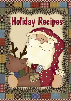 Holiday Recipes: Keep all your favorite Holiday and Christmas recipes in one handy cookbook. Blank r