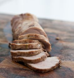 Maple Roasted Pork Loin by EclecticRecipes.com #recipe