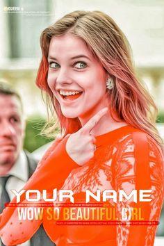 Write Name On Stylish Attitude Girl Photo