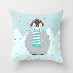 новый год пингвин DECORATIVE PILLOW - PENGUIN