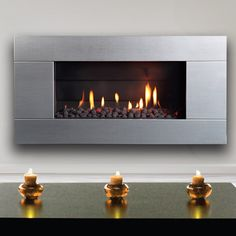 Escea ST900 Indoor Gas Fireplace - Stainless Steel Ferro Fascia