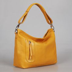 6a9fe8f179 Leather hobo Max small yellowAdeleshop handmade by Adeleshop