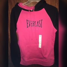 Pink & Black Everlast Hoodie  CONDITION : perfect condition , never wore  NO : stains, holes or rips    Color:  Pink and Black                            Fit: XS for a loose fit to S for an comfortable fit   Size: S ALWAYS: 1-2 day shipping & make an offer !!!!!!  NOT : Trading Everlast Tops Sweatshirts & Hoodies