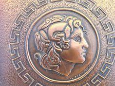 Alexander the Great Wall Art Copper Repousse Vintage by CretanPast, €58.12