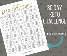 30 Day Ketogenic Challenge Free PDF Printable