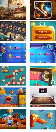 dribbble上游戏ui合集二   G...   gaming inspiration   digital media arts college…