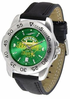 North Dakota State Bison NDSU NCAA Mens Sport Anochrome Watch by SunTime. $56.95. This handsome eye-catching Mens Sport AnoChrome Watch with Leather Band comes with a genuine leather strap. A date calendar function plus a rotating bezel/timer circles the scratch resistant crystal. Sport the bold colorful high quality logo with pride. The AnoChrome dial option increases the visual impact with a stunning radial reflection and gem like saturation of color.AnoChrome Dial OptionThe ...