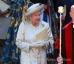 The Queen leaves Westminster Abbey following a Service conducted by the Dean of Westminster to celebrate the 60th anniversary of her Majesty's Coronation June 4, 2013. The Archbishop of Canterbury gave the Address.