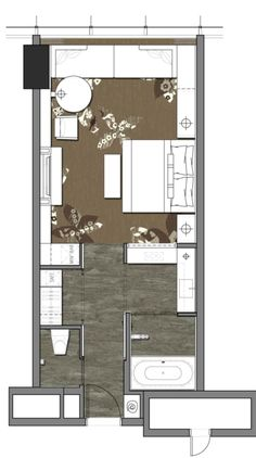 hotel planos 8 Hotel Room Designs Layout Home Plans InterContinental Shanghai Puxi Layout in 2019 Bedroom Floor Plans, House Floor Plans, Hotel Bedroom Design, Hotel Floor Plan, Hotel Concept, Apartment Plans, Room Planning, Bedroom Layouts, Shanghai