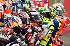 Pedrosa, Marquez, Lorenzo, Rossi, Iannone, helmets, Qatar MotoGP 2016