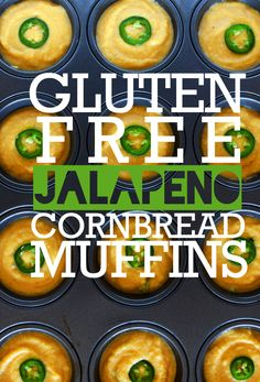 Gluten Free Jalapeño Cornbread Muffins (sub flax gel for egg & non-dairy milk for a vegan muffin)