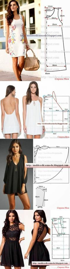 Интересные модели и простые выкройки - 3 (сарафаны и платья)... <3 Deniz <3