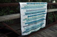 Modern Lap Quilt, Modern Throw Quilt. $125.00, via Etsy.