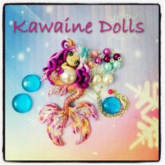 polymer clay mermaid   Atlantis Mermaid Necklace cute kawaii in polymer clay Available now ...