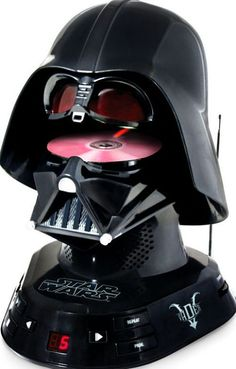Darth Vader CD player (because who doesn't need a Darth Vader-shaped CD player?)