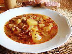 Gulášová polievka (Slovak goulash soup)