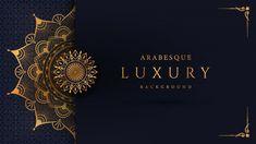 Luxury Mandala Background With Golden Arabesque Pattern Arabic Islamic East Style Luxury Background, Plains Background, Vector Background, Textile Pattern Design, Textile Patterns, Rollup Banner Design, Iphone Wallpapers Full Hd, Motif Arabesque, Style Oriental