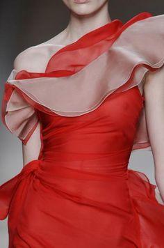 Valentino evening dress. A dreamy one shoulder design.