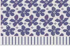 Spring by Ruth Sorensen, pattern isle knitting patterns charts ideas Sprin… - Knitting Charts Tapestry Crochet Patterns, Fair Isle Knitting Patterns, Knitting Charts, Knitting Stitches, Knitting Designs, Motif Fair Isle, Fair Isle Chart, Fair Isle Pattern, Double Knitting