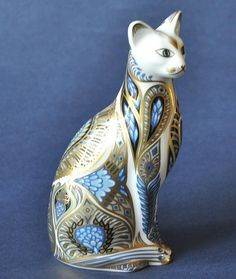Royal Crown Derby Blue Point Siamese Cat http://www.bwthornton.co.uk/royal-crown-derby.php
