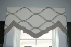 Shaped and banded valance - nice!