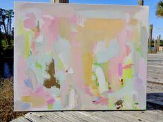 Abstract Art Original Painting 24X30 Large Susan Skelley Free