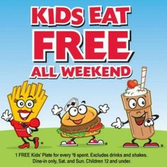 Kids eat FREE at Steak 'n Shake this weekend! #kidseatfree #SteaknShake