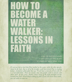 It's not just fate or luck that Peter walked on the water, while the other apostles stayed in the boat. There are reasons why some people walk in miracles and others don't. In this series, Andrew shares many of the faith principles he has learned from God's Word about walking by faith. If you will receive these truths, you can walk on water too. http://www.awmi.net/extra/audio/1037