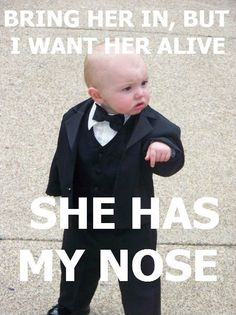 She has my nose! Haha pull this all the time!!