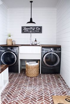 Laundry Room Makeover⎟Before and After - At Home on Beech Tree