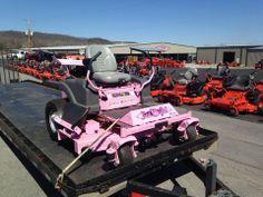 a pink bad boy mower