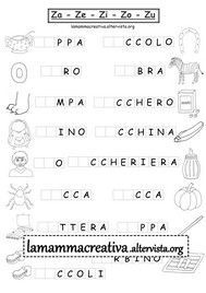 schede didattiche ga go gu Worksheets, Brain Teasers For Kids, Italian Lessons, Math Crafts, Learning Italian, Primary School, Back To School, Activities For Kids, Teaching